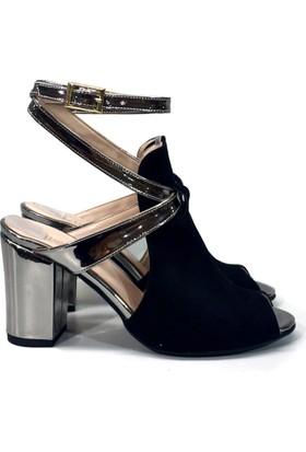 Elexus SND501 Siyah Bayan Abiye Sandalet