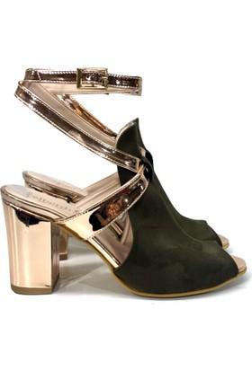 Elexus SND501 Yeşil Bayan Abiye Sandalet