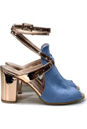 Elexus SND501 Mavi Bayan Abiye Sandalet