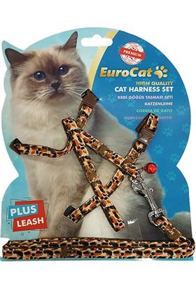 Eurocat Kedi Göğüs Tasması Leopar Desenli