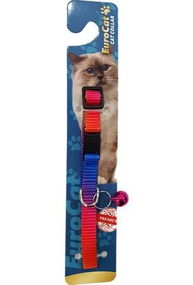 Eurocat Gökkuşağı Renkli Çıngıraklı Kedi Boyun Tasması