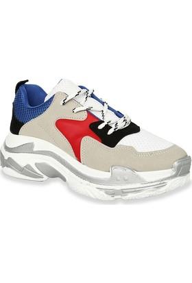 Iva Mae 139- Saks Kırmızı Beyaz Kadın Sneaker