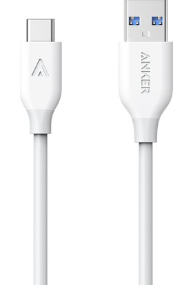 Anker Powerline USB-C to USB 3.0 Type-C Şarj ve Data Kablosu 0.9 Metre - Beyaz - A8163H21 OFP