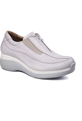 Beta Deri Kadın Ayakkabı - Buz Gri