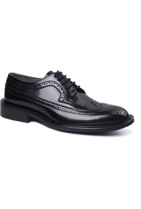 Wall Street Deri Erkek Ayakkabı - Siyah Açma