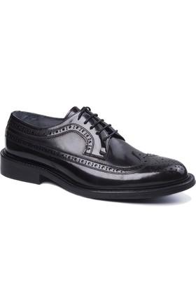 Wall Street Deri Erkek Ayakkabı - Bordo Açma