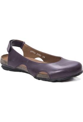 Beta Deri Kadın Sandalet - Mor