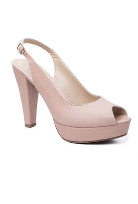 Beta Deri Kadın Sandalet - Pudra