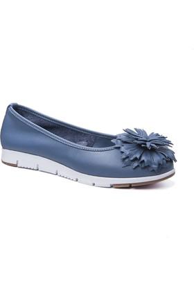 Beta Deri Kadın Ayakkabı - Kot Mavi