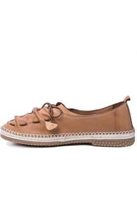 Beta Deri Kadın Ayakkabı - Taba
