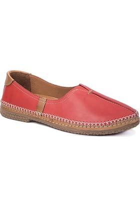 Beta Deri Kadın Ayakkabı - Kırmızı