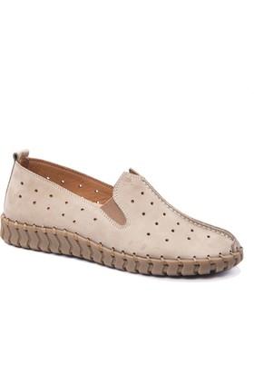 Beta Deri Kadın Ayakkabı - Nubuk Vizon