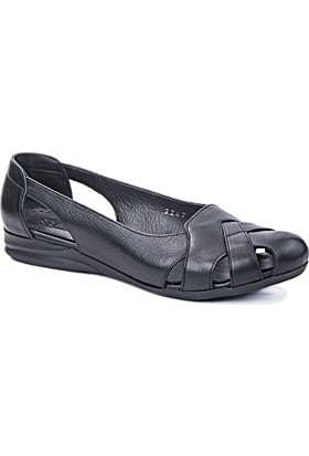 Beta Deri Kadın Ayakkabı - Siyah