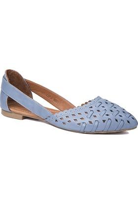 Beta Deri Kadın Ayakkabı - Mavi