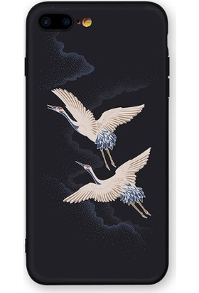 Vendas iPhone 7 Özgür Kuşlar Resimli Silikon Kılıf - Siyah