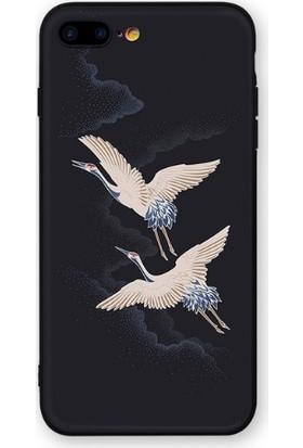 Vendas iPhone 6S Özgür Kuşlar Resimli Silikon Kılıf - Siyah