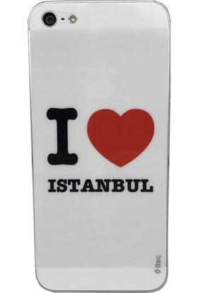 Ttec iPhone 5/5S/SE İstanbul Yazılı İnce Ön ve Arka Koruyucu