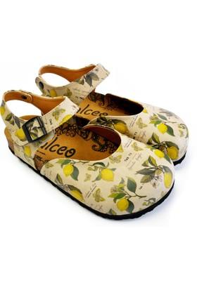 Neefs Kadın Sarı Limon Çiçeği Sandalet CAL1606