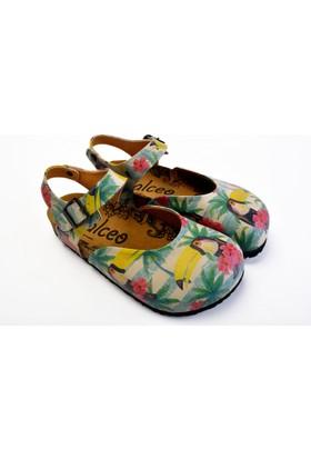 Neefs Kadın Yeşil Renkli Kuş Sandalet CAL1608