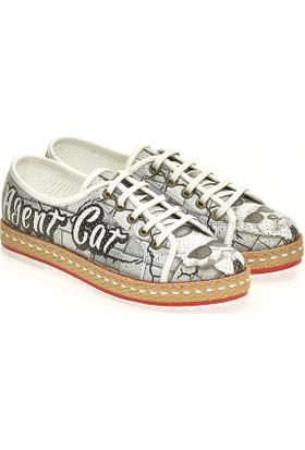 Neefs Kadın Beyaz Mafya Köpek Slip On Sneaker NDEL105