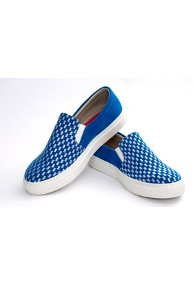 Neefs Kadın Mavi Renkli Noktalar Slip On Sneaker NFS602