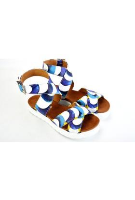 Neefs Kadın Mavi Döngüler Günlük Sandalet NSN207