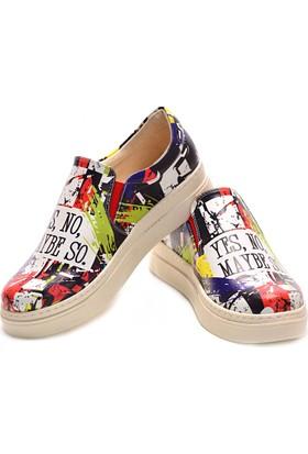 Neefs Kadın Renkli Yes, No Slip On Sneaker NVN106