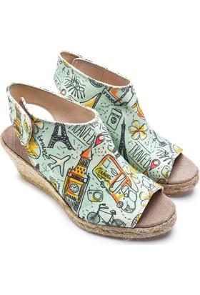Neefs Kadın Mint Travel El Yapımı Espadril Sandalet SAN2902