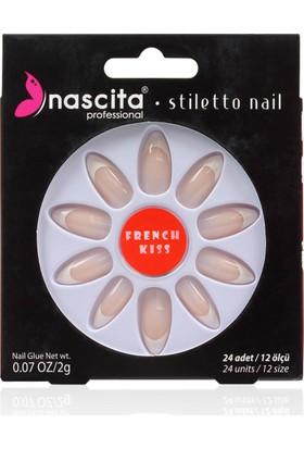 Nascita Stiletto Takma Tırnak - French Nails