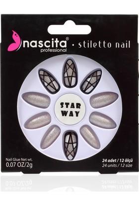Nascita Stiletto Takma Tırnak - Glitter Nails