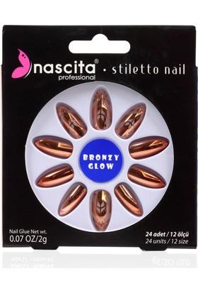 Nascita Stiletto Takma Tırnak - Metallic