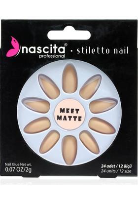 Nascita Stiletto Takma Tırnak - Matte French Nails