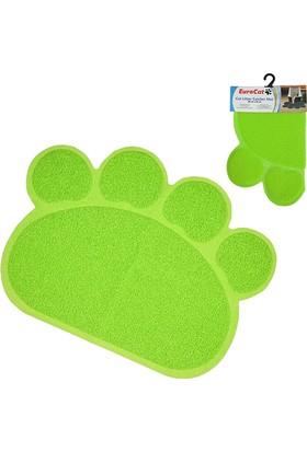 EuroCat Pati Desenli Kedi Paspası Açık Yeşil