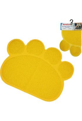 EuroCat Pati Desenli Kedi Paspası Açık Sarı