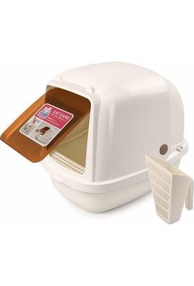 Catidea Kapalı Kedi Tuvalet Kabı Jumbo