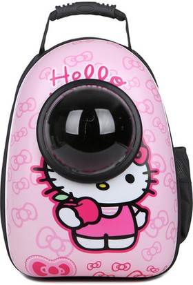 Kapsül Model Taşıma Sırt Çantası 43x27x33 Cm Hello Kitty Desenli