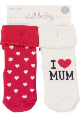 İdilbaby 9915 2'li Bebek Çorap