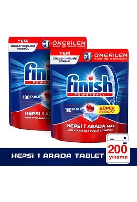 Finish Hepsi Bir Arada Bulaşık Makinesi Deterjanı 200 Tablet (100 x 2)
