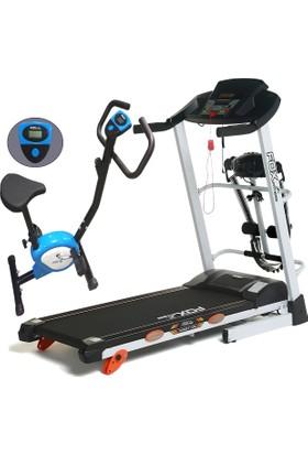 Fox Fitness New Target 70E 2.5 Hp Motorlu, Masajlı Koşu Bandı + T53 Kondisyon Bisiklet Seti