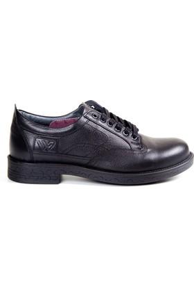 White World 1702 Siyah Komfort Ayakkabı