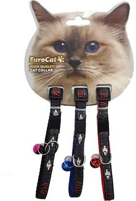 Eurocat Balık Desenli Çıngıraklı Kedi Boyun Tasması 3'lü