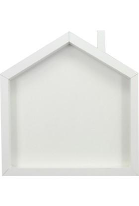 Kazanabil Ev Şeklinde Ahşap Kokulu Taş Panosu Beyaz