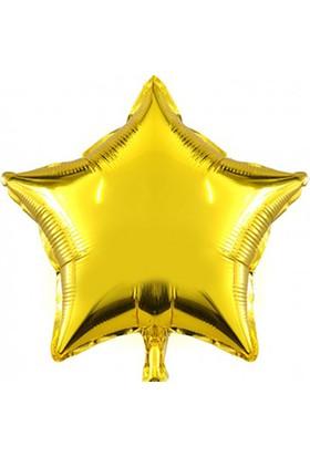Kazanabil Yıldız Şeklinde Folyo Balon 40cm Gold