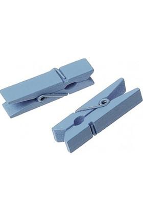 Kazanabil 24lü Ahşap Mini Mandal Mavi 2,5cm