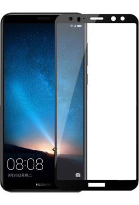 Dafoni Huawei Mate 10 Curve Nano Glass Premium Siyah Cam Ekran Koruyucu