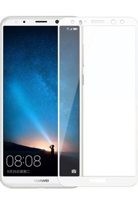 Dafoni Huawei Mate 10 Curve Slim Triple Shield Beyaz Ekran Koruyucu