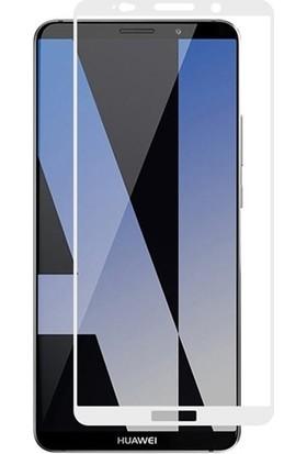 Dafoni Huawei Mate 10 Pro Curve Nano Glass Premium Beyaz Cam Ekran Koruyucu