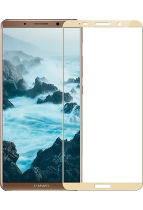 Dafoni Huawei Mate 10 Pro Curve Tempered Glass Premium Full Gold Cam Ekran Koruyucu