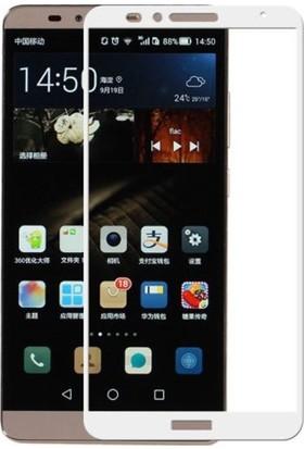 Dafoni Huawei Mate 8 Curve Nano Glass Premium Beyaz Cam Ekran Koruyucu