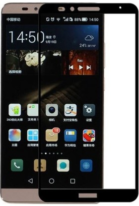 Dafoni Huawei Mate 8 Curve Slim Triple Shield Siyah Ekran Koruyucu